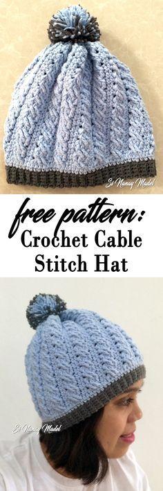 64 best crocheted hats images on Pinterest | Basteln, Häkelideen und ...