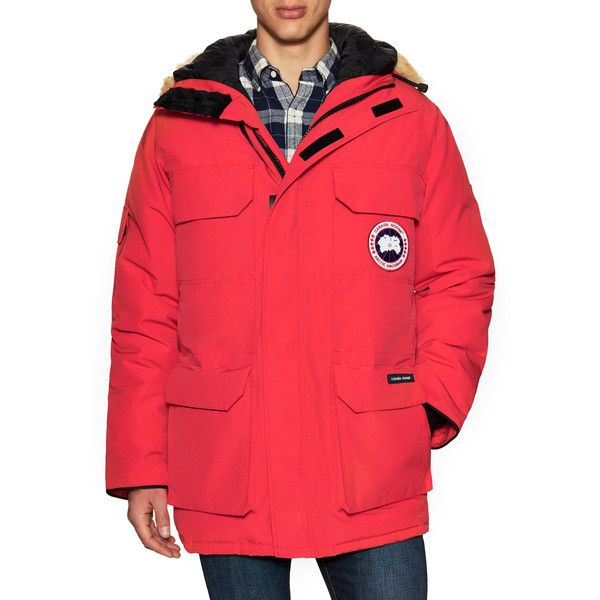 Canada Goose Men's Expedition Hooded Parka - Size L (52.100 RUB) ❤ liked on Polyvore featuring men's fashion, men's clothing, men's outerwear, men's coats, no color, mens coyote fur coat, mens coats, mens parka, mens parka coats and canada goose mens coats
