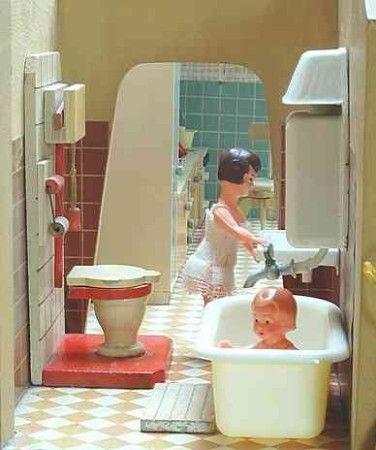 House Constanza Dollhouse Modern 1950-1960s Pinterest - badezimmer 50er jahre