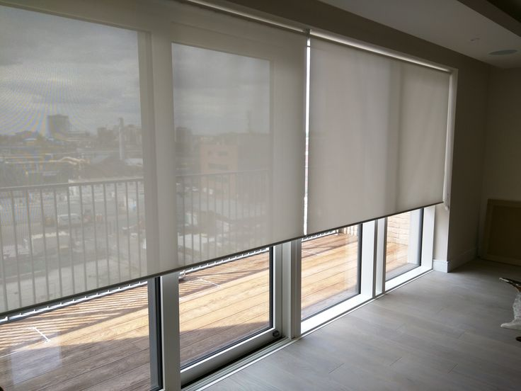 Sunscreen roller blinds - floor to ceiling windows - sliding doors | London