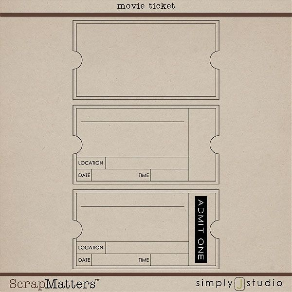 Invitation Ticket Template – Printable Ticket Invitations