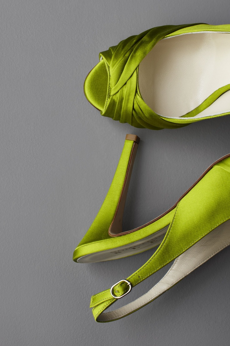 Threshold Slingbacks by Something Bleu: Silk upper, leather sole. $320  #Shoes #Something_Bleu: Green Shoes, Fashion Shoes, Color, Green Heels, Woman Shoes, Bridesmaid Shoes, Weddings Shoes, Girls Fashion, Green Satin