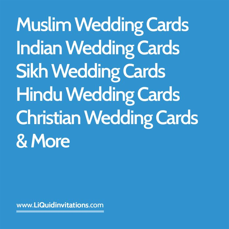 Indian Wedding Cards, Muslim wedding cards, Sikh wedding cards and much more available via LiQuidinvitations.com
