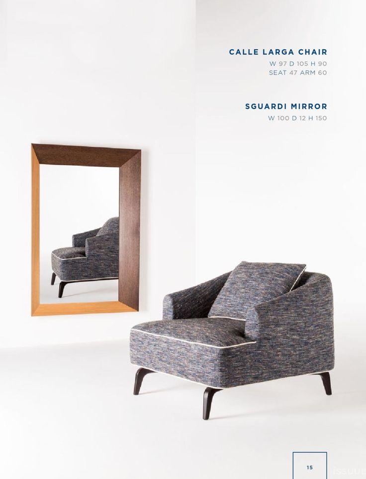 Rubelli Casa - Calle larga chair Sguardi mirror