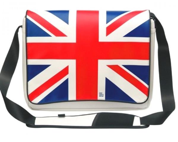 """$37.77  BOLSA MALETA BANDERA UK 13,4"""" A 17"""""""