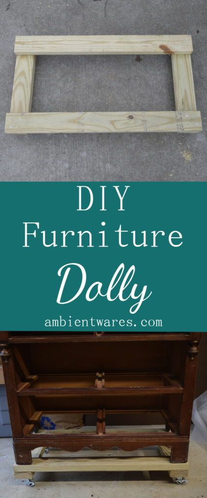 Super Easy to Make Furniture Dolly on Casters! ambientwares.com