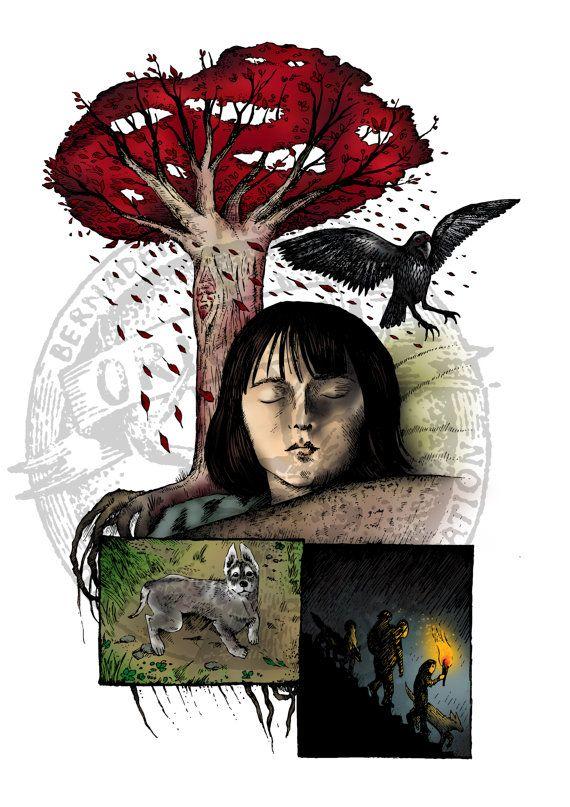 Bran Stark, Game of Thrones fanart, digital illustration