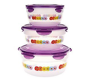 lock lock qvc com gerber daisies kaboodle bowl on kaboodle kitchen microwave id=55813