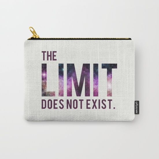 The Limit Does Not Exist - Mean Girls quote from Cady Heron Carry-All Pouch by AllieR #meangirls #pouch #carryallpouch #carryallpouches #zipperbag #zipperpurse #bag #bags #cute #quote #moviequote #insp #inspiration #cadyheron #reginageorge #glencoco #lol #funny #love #gift #gifts