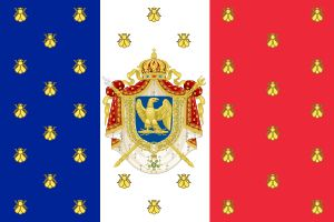 Imperial Standard of Napoleon III-The anti-parliamentary French Constitution of 1852 instituted by Napoleon III on January 14, 1852, was largely a repetition of that of 1848. All executive power was entrusted to the emperor, who, as head of state, was solely responsible to the people. The people of the Empire, lacking democratic rights, were to rely on the benevolence of the emperor rather than on the benevolence of politicians.