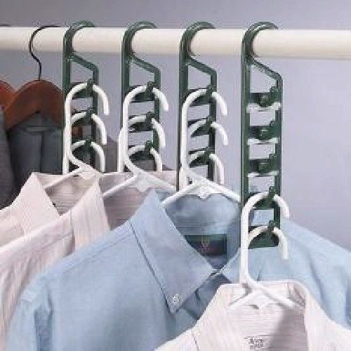 2 Vertical BELT HANGERS HOOK Closet Organizer Small Green