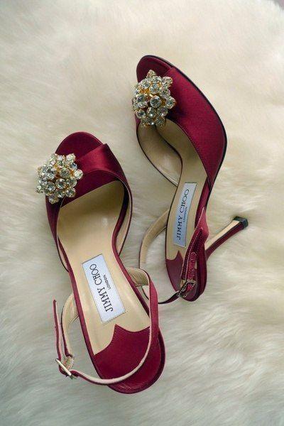 c4ff63fc76df Jimmy Choo burgundy satin sandal with crystal toe  Choos  Shoes  JimmyChoo