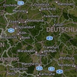 Radar de lluvia en Alemania