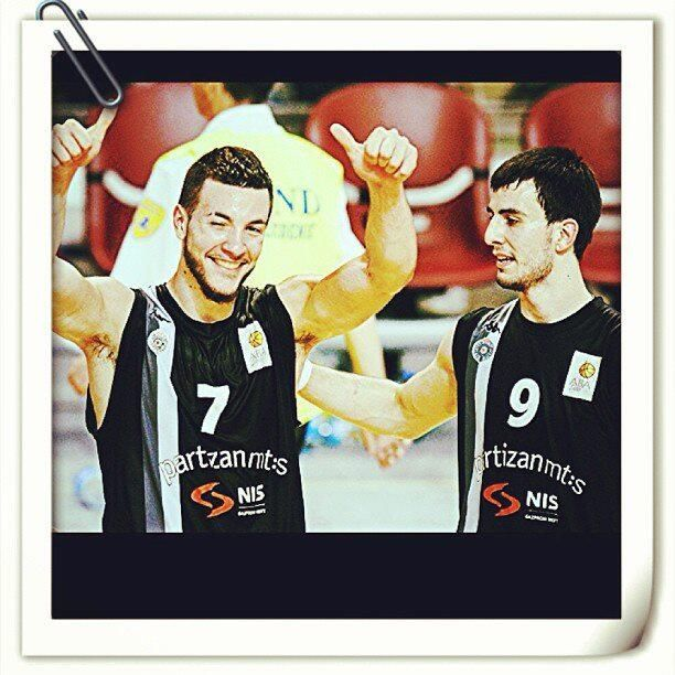 Joffrey Lauvergne and Léo Westermann (KK Partizan)