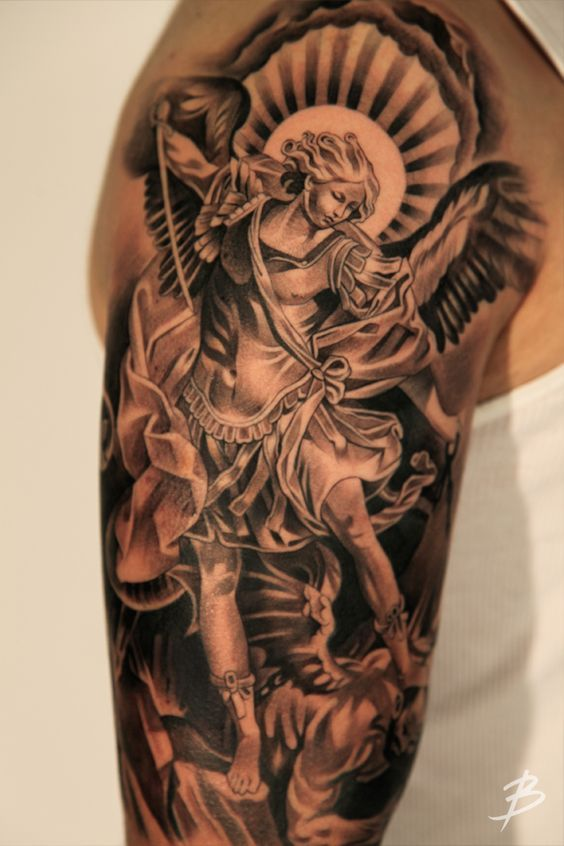 Schulter engel tattoo teufel Engel Teufel