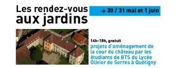 Les travaux des étudiants de 2e année de BTS Aménagement paysager du Lycée Olivier de Serres de Quetigny sur les projets d'aménagement de la cour du Château seront présentés.