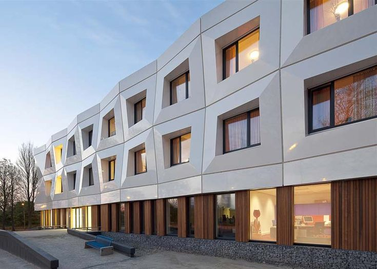 Named Veilige Veste, meaning 'safe fortress', the three-storey building in Leeuwarden, Friesland,provides a home for 48 girls that have suffered as victims of prostitution or abuse.