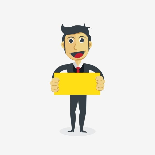 Businessman Cartoon Character Hand Concepts Business Leadership