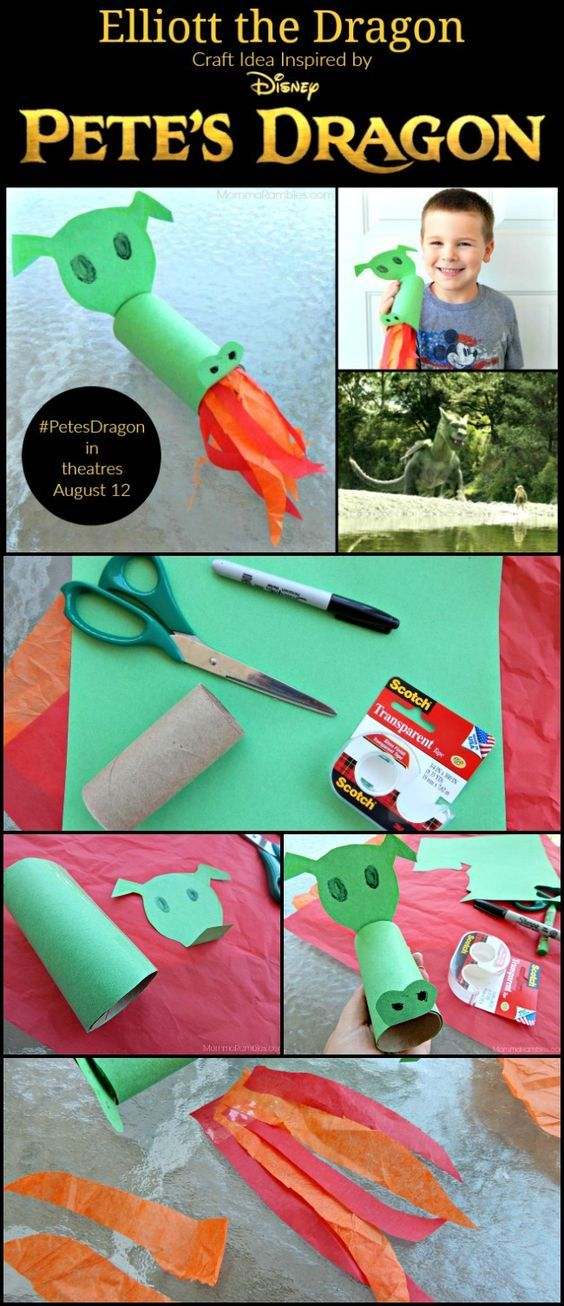 Elliott the Dragon Craft Idea: Inspired by PETE'S DRAGON ~ #PetesDragon