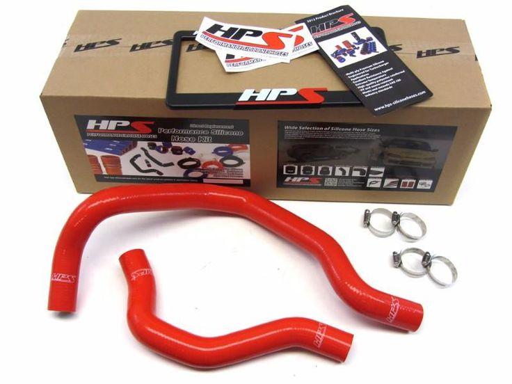 HPS Red 3-Ply Silicone Radiator Hose Kit for Honda 88-91 Civic B16 Engine