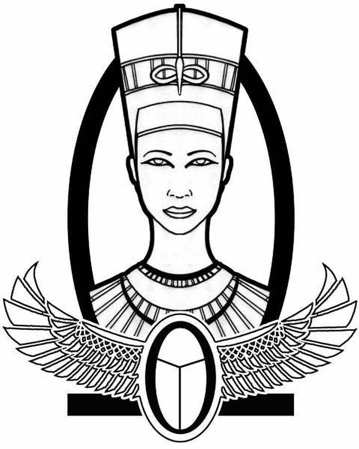 egyptian queen drawing - photo #23