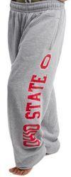 Ohio State Buckeyes Sweatpants Gray O - www.CampusApparelStore.com