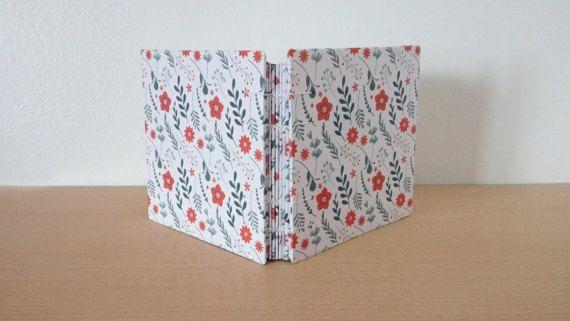 Flores marrones Diario regalo Encuadernación copta por PaperfulShop