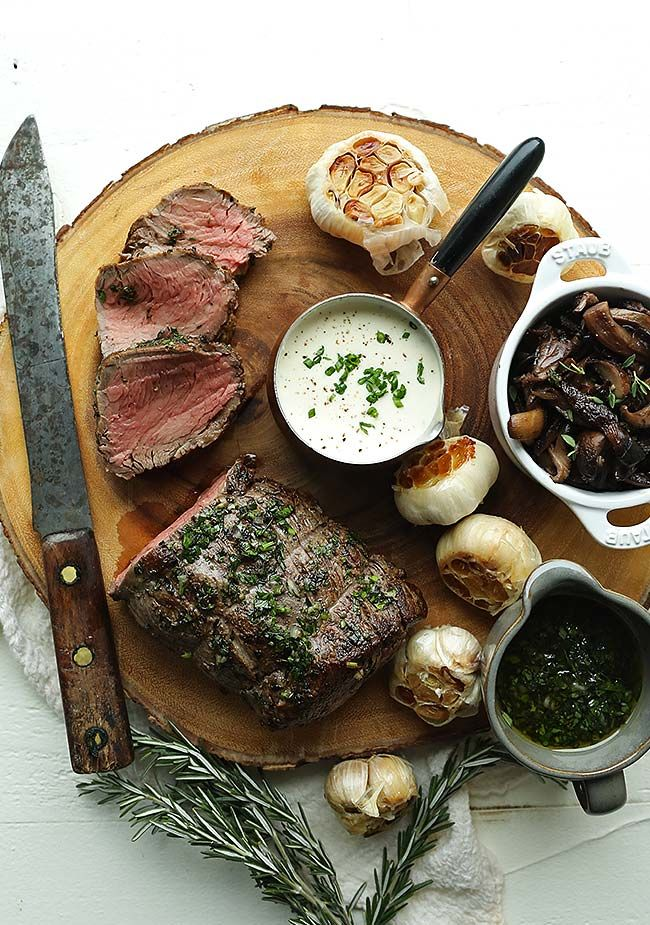 Put that turkey aside this thanksgiving and make this amazing Garlic and Herb Beef Tenderloin Recipe with Roasted Wild Mushrooms!