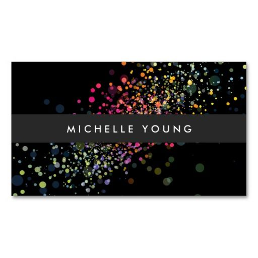 585 best business cards images on pinterest business cards carte colorful confetti bokeh on black modern business card cheaphphosting