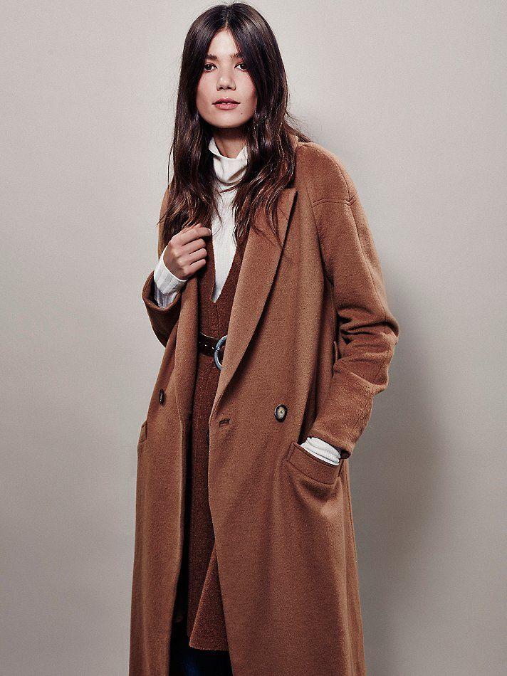 Free People Slim Long Overcoat | Free People