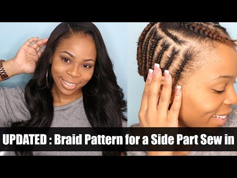 UPDATED: Braiding Pattern for a side part with leave out - YouTube