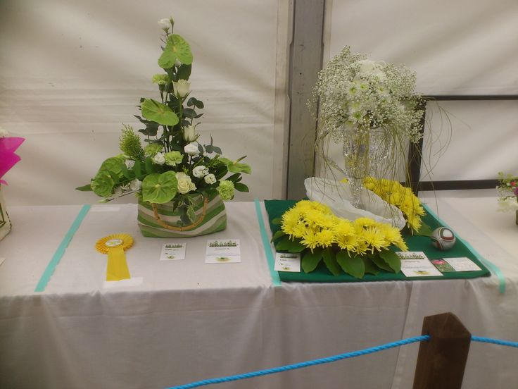 Flower Arranging Competition entries on display in The Bloom Room