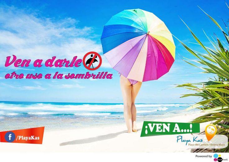 ¿Ya te mojaste? ¡Mejor #VenAPlayaKas!  #PlayaDelCarmen