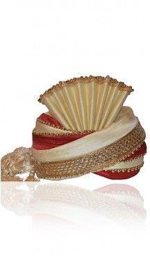 Turban Pagri for Gooms in Dupioni Raw Silk and Cream | FH464972492 #turban #punjabi #wedding #shaadi #groom #bride #england #destinationwedding #turbanstyle #weddingturban #weddingturbanstyle #pagh #IndianWedding #PakistaniWedding #Pagri #sehra #mensfashion #turbanista #goomsturban #royalweddingturban #BaratiPagri #weddingpagrifobarati #rajasthanipagriforgroom #SadiShehra #Jamadani #men #groom #designs #redweddingturban, #heenastyle... ----- > Follow us @heenastyle