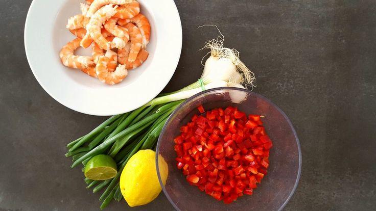 Ceviche de crevettes aux poivrons
