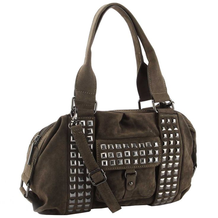 BCBG Generation Irena Satchel Bag- Green - Fashion