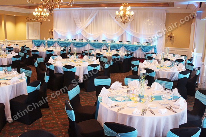 Ruched chair covers for rent chicago west suburbs elmhurst addison elmwood park tiffany blue