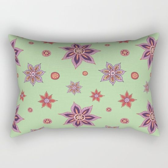 Colorful hand drawn floral pattern.