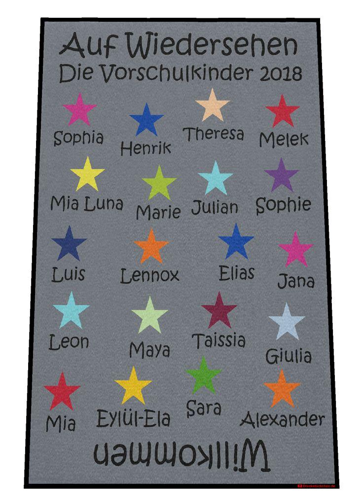 Nursery preschool kids farewell doormat stars (draft J)