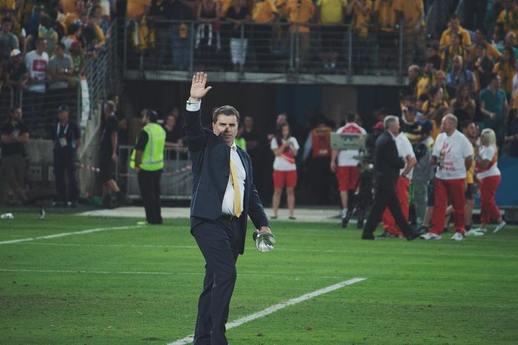 Ange soaks in some atmosphere after the AC Final.