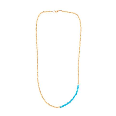 CATHERINE WEITZMAN Turquoise and Gold Necklace – KAVUT