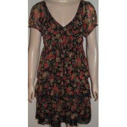 Ichi  dámské šaty černo červené M
