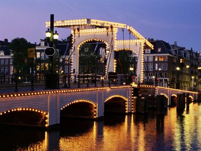 The Skinny Bridge, Amsterdam. The red light district is also a must see for any trip to Amsterdam.