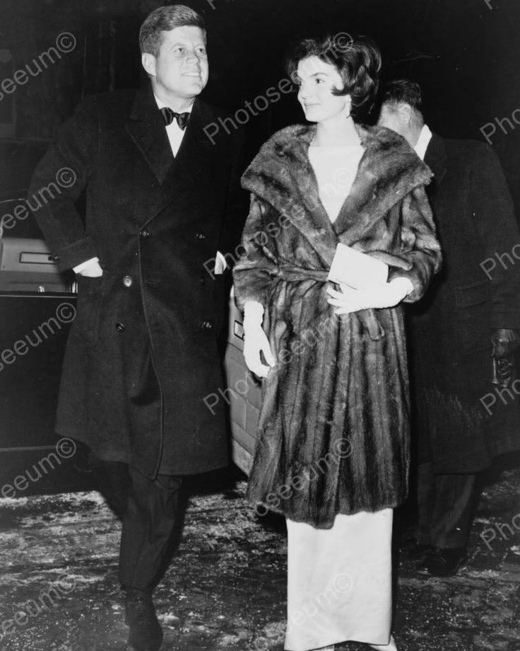 John & Jackie Kennedy Party Bound 1960s 8x10 Reprint Of Old Photo
