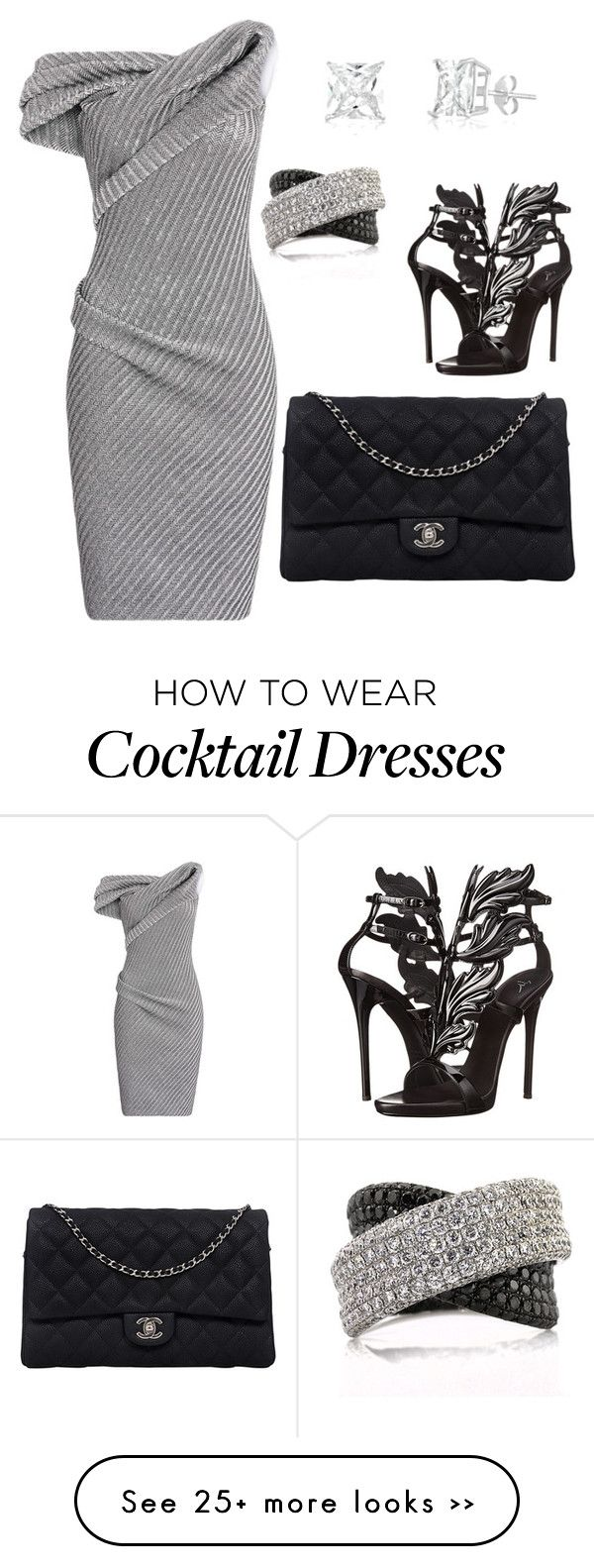 """My First Polyvore Outfit"" by hakiawylie on Polyvore featuring Maticevski, Giuseppe Zanotti, Chanel and Mark Broumand"