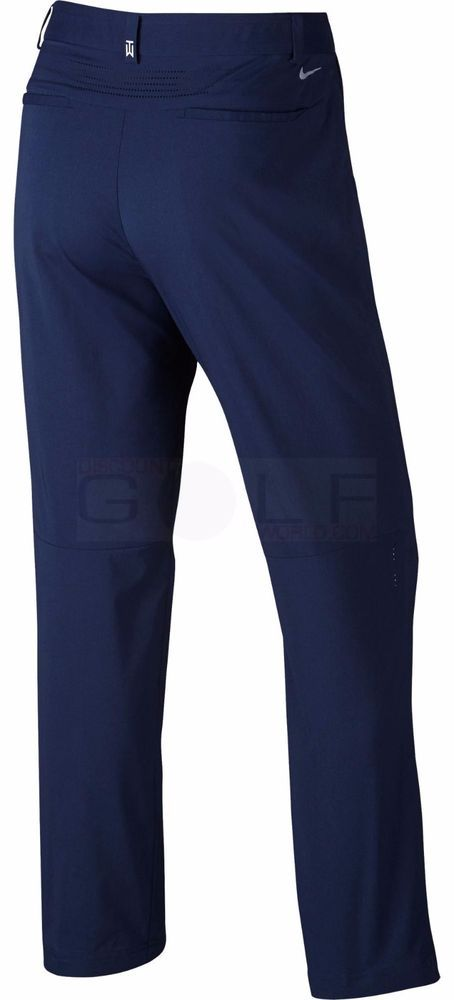 NWT NIKE GOLF TIGER WOODS TW Adaptive Fit Woven Pant 726220 Navy Blue 34 x  32