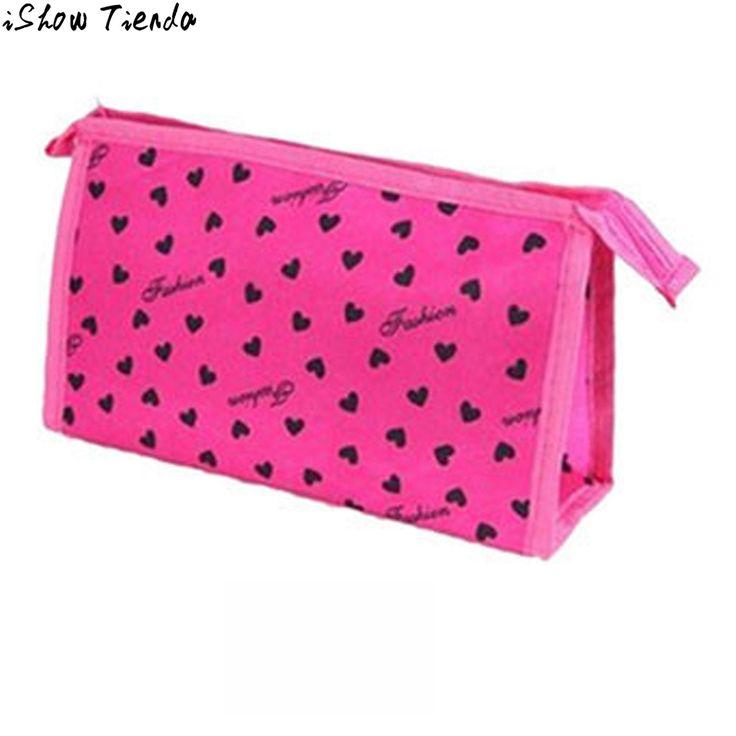 Xiniu Trucco Borse Frizione Donne Giorno Dolce Cuore di Stampa Del Leopardo Sacchetto Cosmetico Per Make Up Bolsa De Cosmeticos #2911