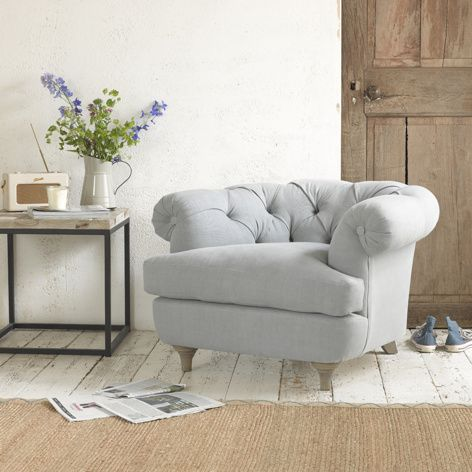 Swaggamuffin | Chesterfield Occasional Chair Swaggamuffin in thatch house fabric - Armchairs | Loaf