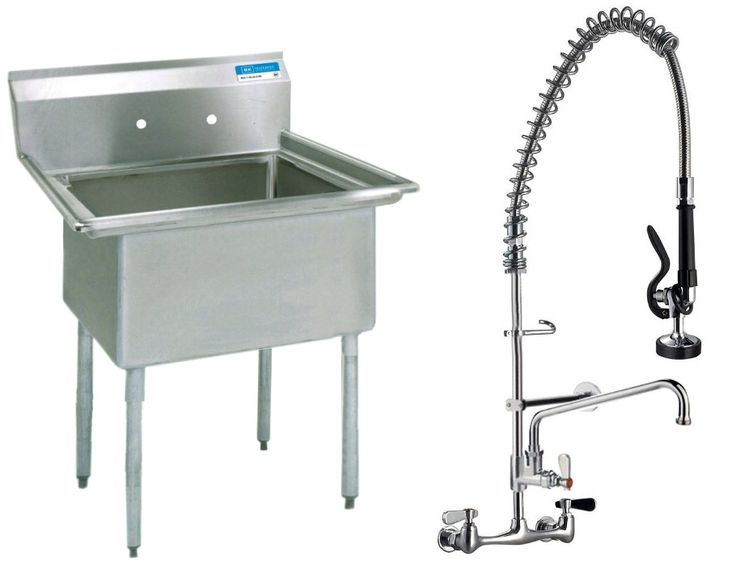 utility room Stainless Steel (1) One Compartment Utility Prep Mop Sink ...