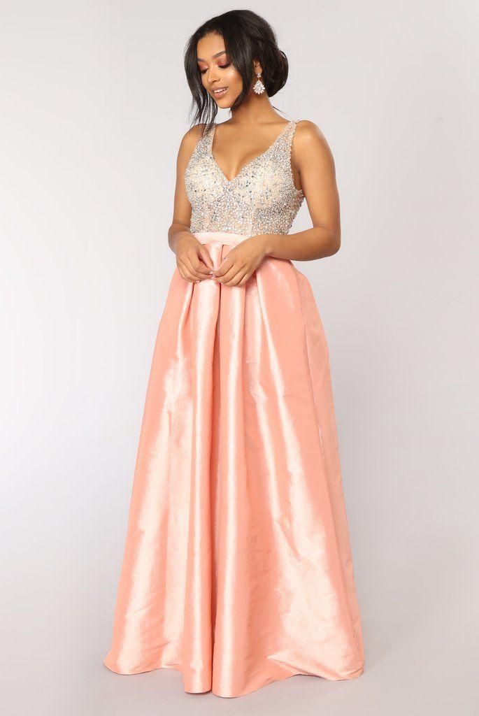 85ce9f33368 Regal Beaded Dress - Blush